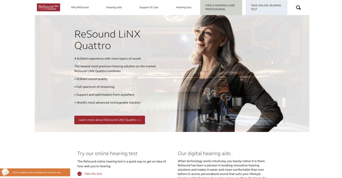 Resound homepage