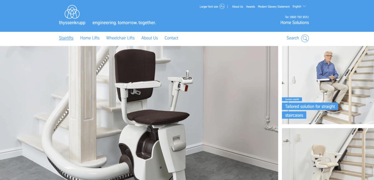 Thyssenkrupp homepage screenshot