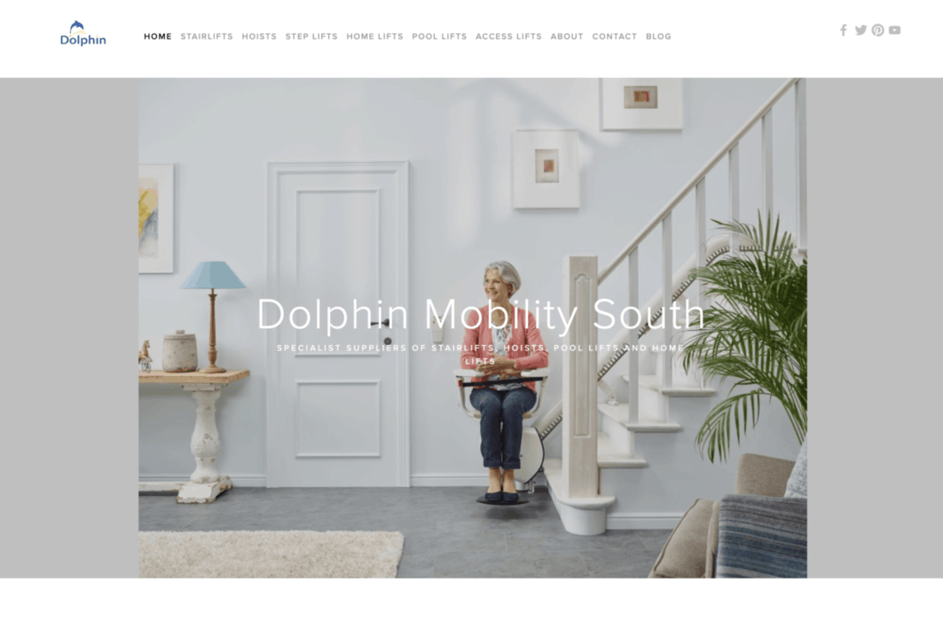 Dolphin Mobility Homepage Screenshot