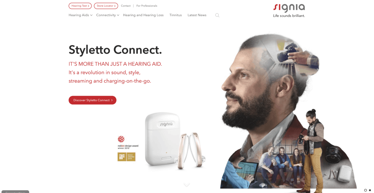 Signia homepage