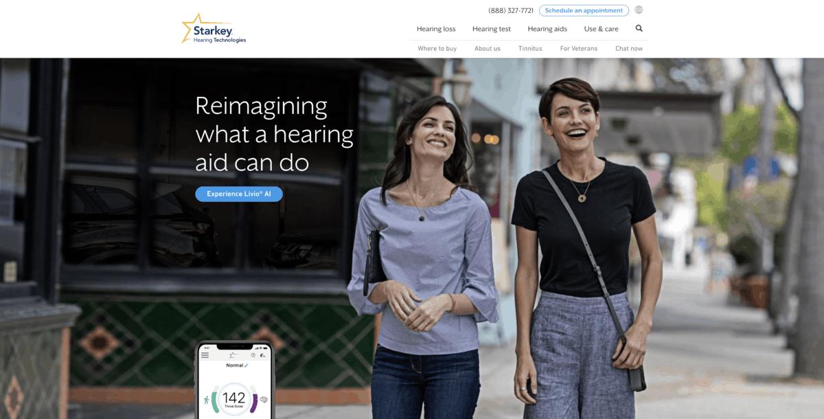 Starkey homepage